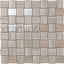 Настенная плитка 9MVM Marvel Pro Travertino Silver Net Mosaic  30.5x30.5