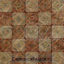 Декоративный элемент BETA PERSEI Mosaic Travertino Classico Gold Rosso Persia Gold  29,5x29,5x1