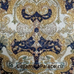 Декоративный элемент MEROPE  TSS Bianco Carrara Blue Gold 40x40x1