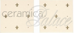Декоративный элемент B9032TG Gold on Colonial White (2 Tile Set) 152 x 152 x 7
