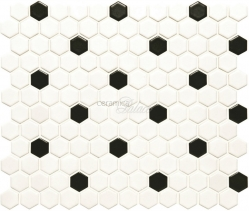 Декоративный элемент CS-HNYCOMWB Black and White Honeycomb 29,7x25,7
