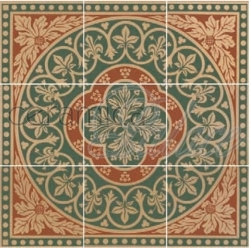 Декоративный элемент 6276V Disraeli Green 45,7x45,7  9-tile set 15,1х15,1