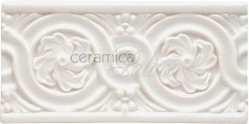 Декоративный элемент ADNT5062 Relieve Flores Snow 7,5х15