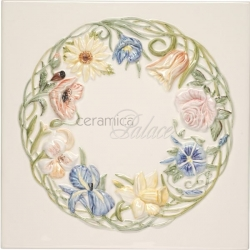 Декоративный элемент KHP5839BN RING OF FLOWERS PLAQUE CLEMATIS 30х30