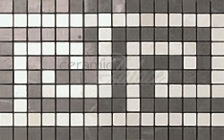 Декоративный элемент ASM9 Marvel Grey/Moon Greca Mosaico  18,5x30