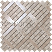 Настенная плитка 9MVB Marvel Pro Travertino Silver Diagonal Mosaic  30.5x30.5