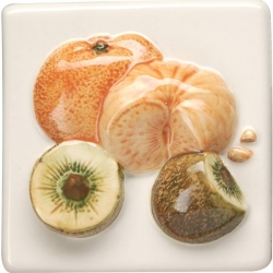 Декоративный элемент KHP5727B TANGERINES & KIWI FRUIT 10х10